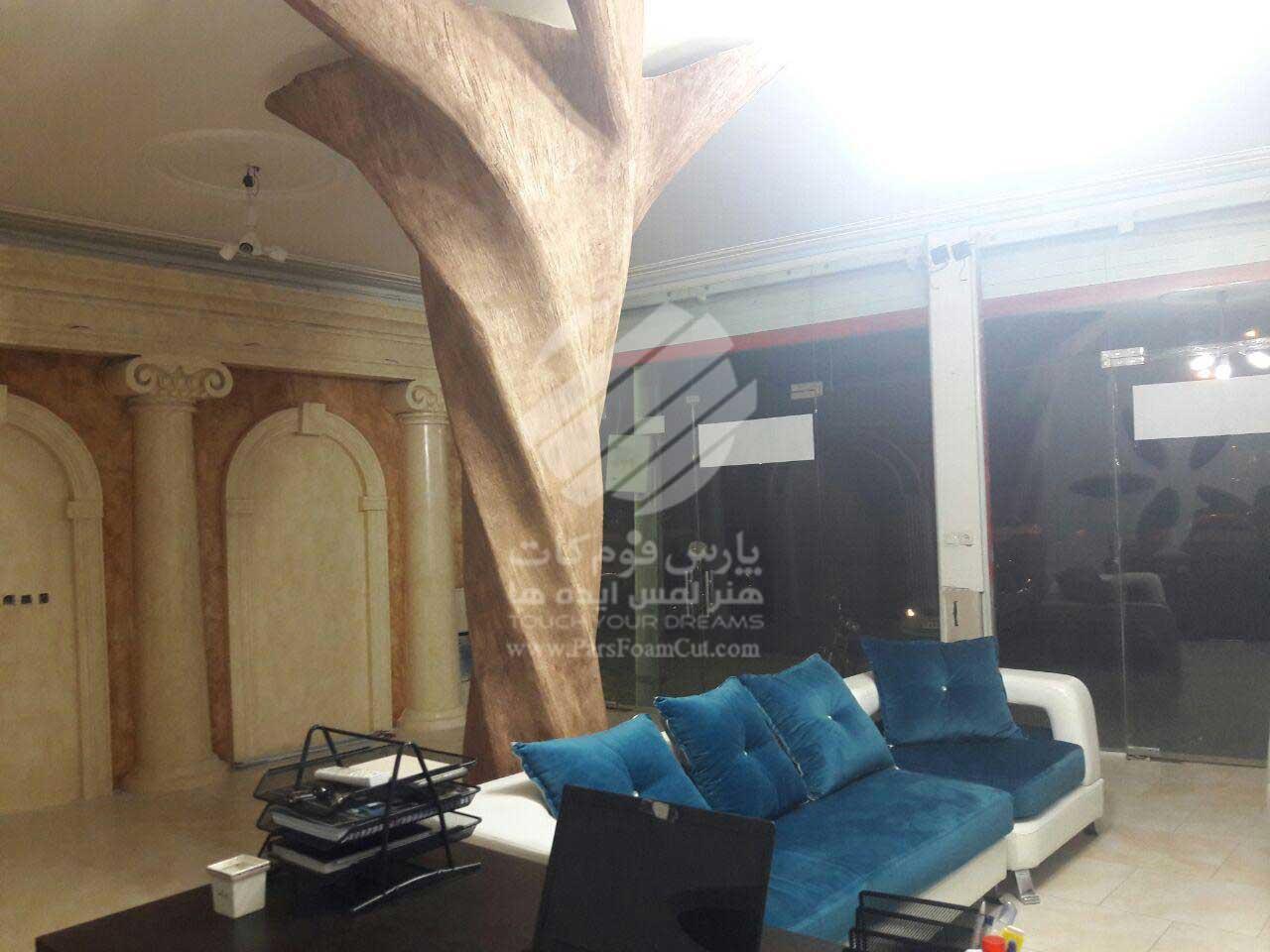 دکور نمایشگاه دائمی پارس فوم کات