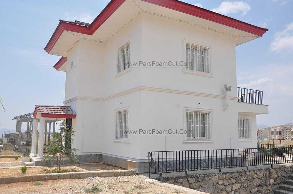 پروژه نمای ویلای واقع در منطقه مهرآباد بخش رودهن