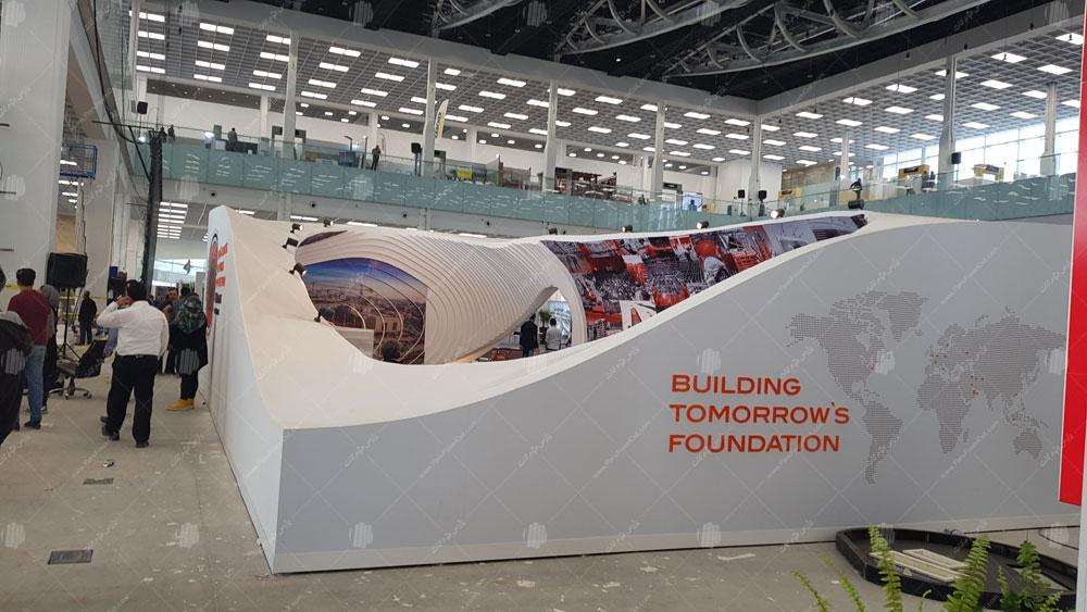 غرفه شرکت پایدار پی سازه نمایشگاه صنعت ساختمان – ایران مال