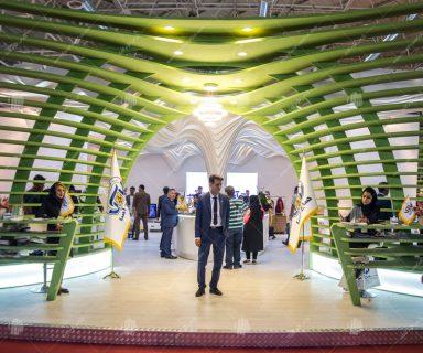ساخت سقف دکور غرفه نمایشگاه