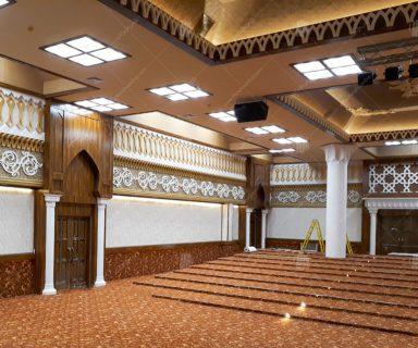 پروژه دکوراسیون داخل سالن همایش مسجد پیامبر اعظم (ص)